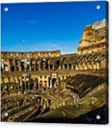 Colosseum In Rome Interior Acrylic Print