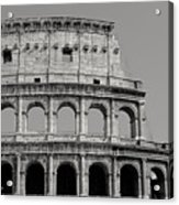 Colosseum Or Coliseum Black And White Acrylic Print
