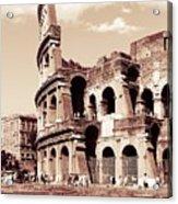 Colosseum Toned Sepia Acrylic Print
