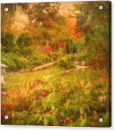 Colour Explosion In The Japanese Gardens Acrylic Print