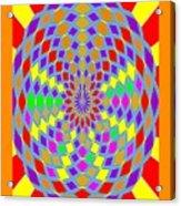 Coloured Ovals Acrylic Print