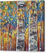 Colourful Autumn Aspen Trees By Lena Owens @olena Art Acrylic Print