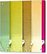Colourful Blind Acrylic Print