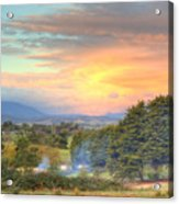 Colourful Clouds At Sunset Yarra Glen 09-05-2015 Acrylic Print