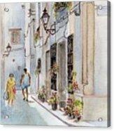 Colourful Corner In Spain Acrylic Print