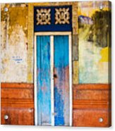 Colourful Door Acrylic Print