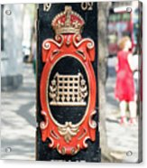Colourful Lamp Post With The City Of Westminster Coat Of Arms London Acrylic Print