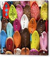 Colourful Morroccan Slipper Acrylic Print