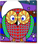 Colourful Owl Acrylic Print