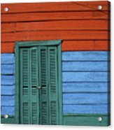 Colourful Shutters La Boca Buenos Aires Acrylic Print