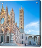 Colourful Siena Cathedral Acrylic Print