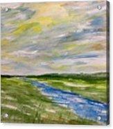 Colourful Sky Over The Creek Acrylic Print
