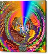 Colourful Swirl Of Goodluck Acrylic Print