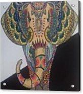 Colours In An Elephant Acrylic Print