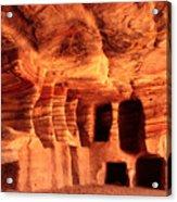 Colours Of Petra Acrylic Print by Paul Cowan