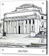 Columbia Acrylic Print by Frederic Kohli