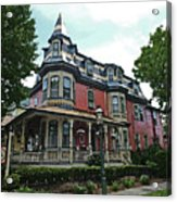 Columbia House Watercolor Acrylic Print