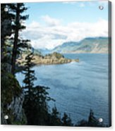 Columbia River Cliffside Acrylic Print