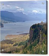 Columbia River Gorge Oregon State Panorama. Acrylic Print