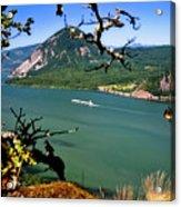 Columbia River Traffic Acrylic Print