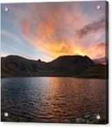 Columbine Lake Sunset - Weminuche Wilderness - Colorado Acrylic Print