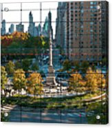 Columbus Circle Acrylic Print by S Paul Sahm