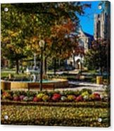 Columbus Day In The Park Acrylic Print