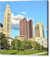 Columbus From The Park Acrylic Print