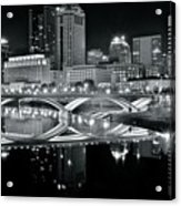Columbus Ohio Black And White Acrylic Print