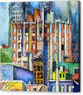 Columbus Ohio City Lights Acrylic Print by Mindy Newman