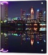 Columbus Ohio Reflecting Nicely Acrylic Print