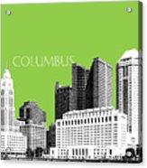Columbus Ohio Skyline - Olive Acrylic Print