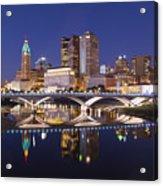 Columbus Skyline Reflection Acrylic Print
