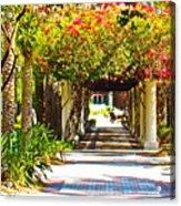 Column Flowers Acrylic Print