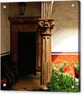 Column In The Corridor Acrylic Print