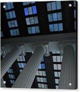 Column Stain Blue Acrylic Print