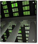 Column Stain Green Acrylic Print