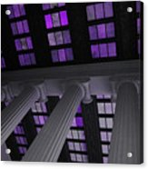 Column Stain Purple Acrylic Print