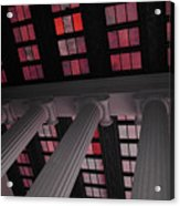 Column Stain Red Acrylic Print