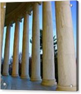 Columns At Jefferson Acrylic Print by Megan Cohen