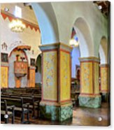 Columns At San Juan Bautista Mission Acrylic Print