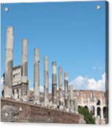 Columns Colosseum And Lamppost Acrylic Print