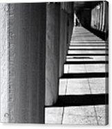 Columns In Athens Acrylic Print