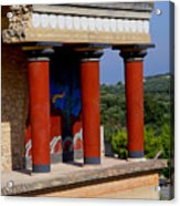 Columns Of Knossos Greece Acrylic Print