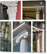 Columns Of New Orleans Collage Acrylic Print