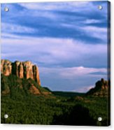 Colurt House Butte And Bell Rock Acrylic Print