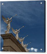 Come Blow Your Horn - Angels And Trumpets - Caesars Palace Las Vegas Acrylic Print