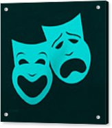 Comedy N Tragedy Aquamarine Acrylic Print