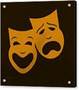 Comedy N Tragedy Black Orange Acrylic Print