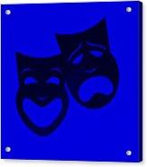 Comedy N Tragedy Blue Acrylic Print
